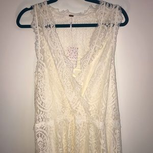 Free People Lace Dress w/slip